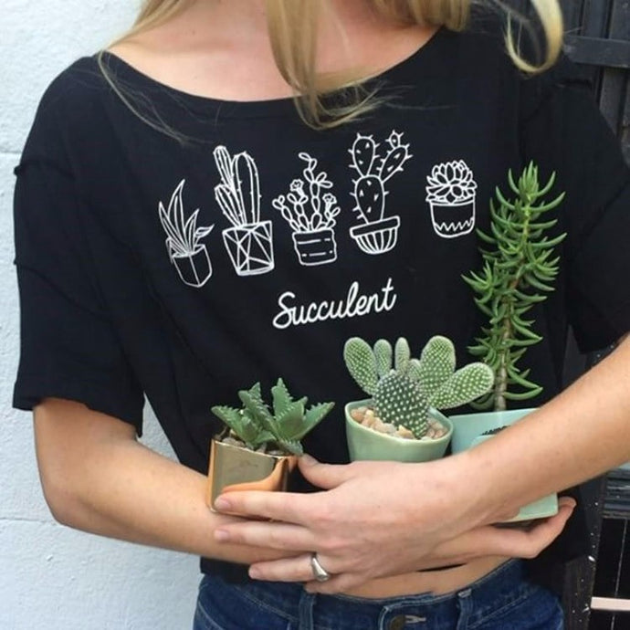 Succulent Lady Tee