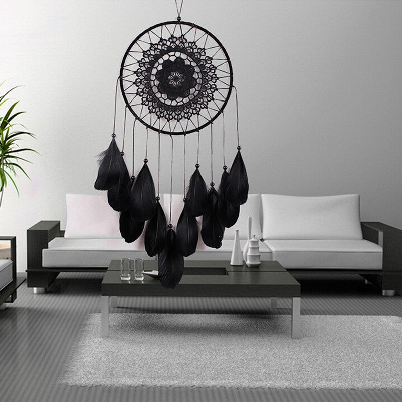 Black Mandala Dreamcatcher - Decor - Medicated Mermaid