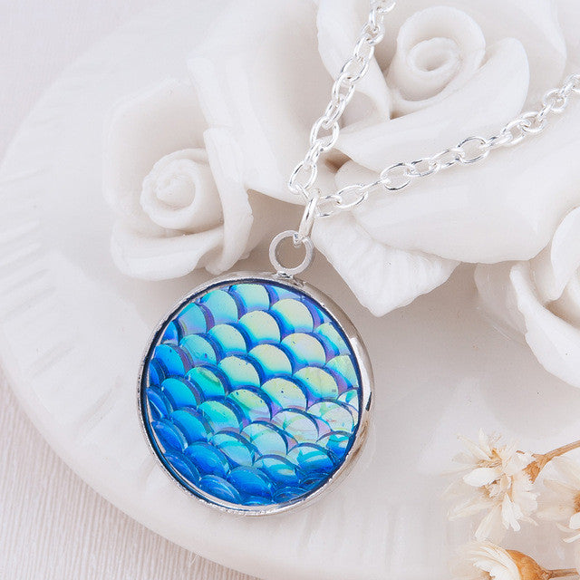 Mermaid Scale Pendant Necklace - Medicated Mermaid