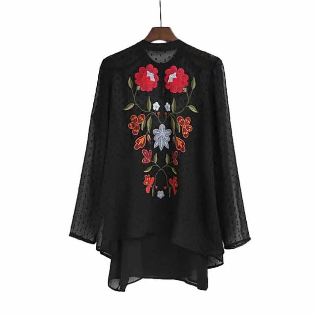 Midnight Flower Blouse