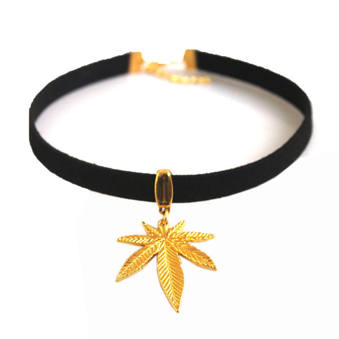 Gold Kush Queen Choker - Medicated Mermaid