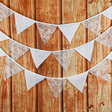 Vintage Lace Bunting Flags