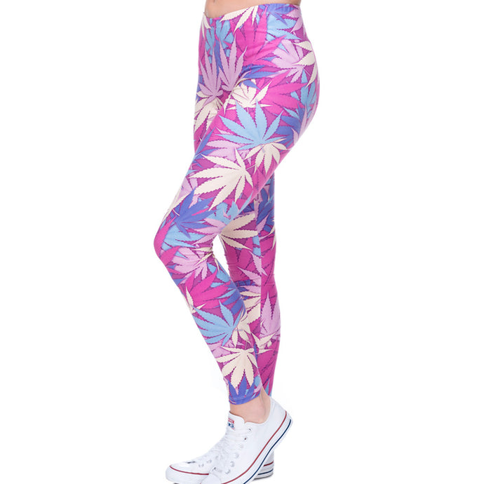 Sativa Sunset Leggings - leggings - Medicated Mermaid