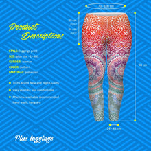 Mandala Magic Leggings (Plus Size) - leggings - Medicated Mermaid