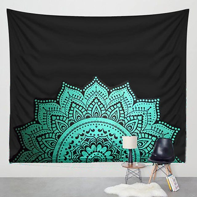 Rising Turquoise Tapestry - tapestry - Medicated Mermaid
