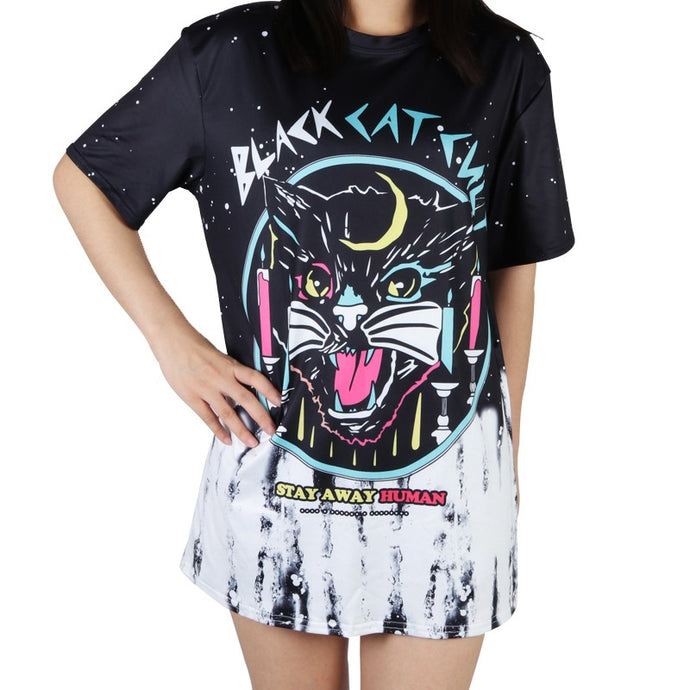 Black Kat Cult Tee - Tee - Medicated Mermaid