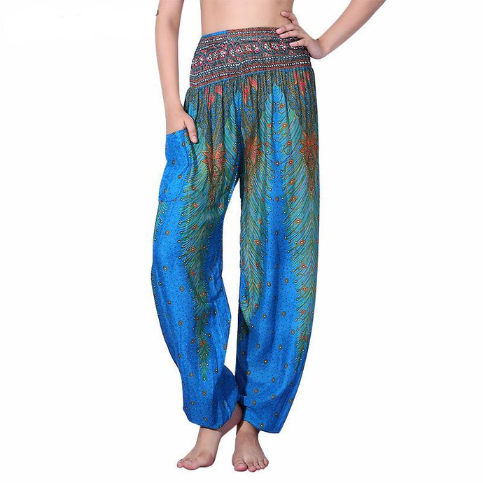 Peacock Flow Yoga Pants