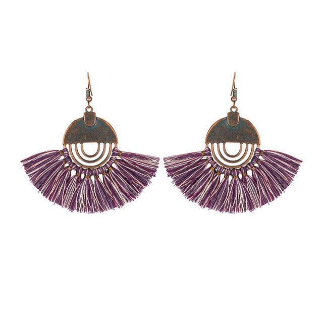 Vintage Vibe Tassel Earrings