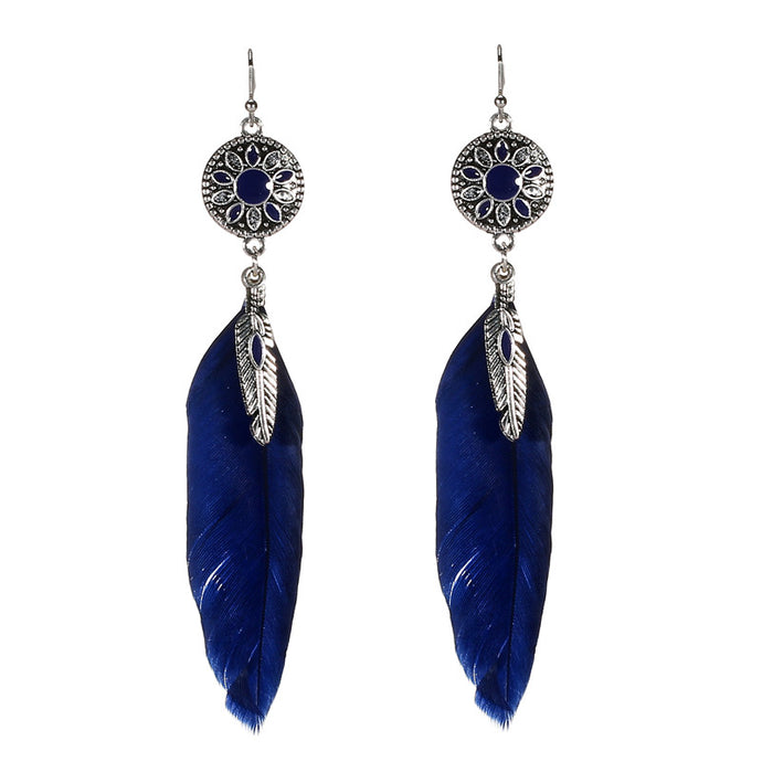 Moonlight Feather Earrings