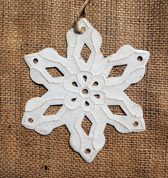White Snowflake Ornament - 7.5