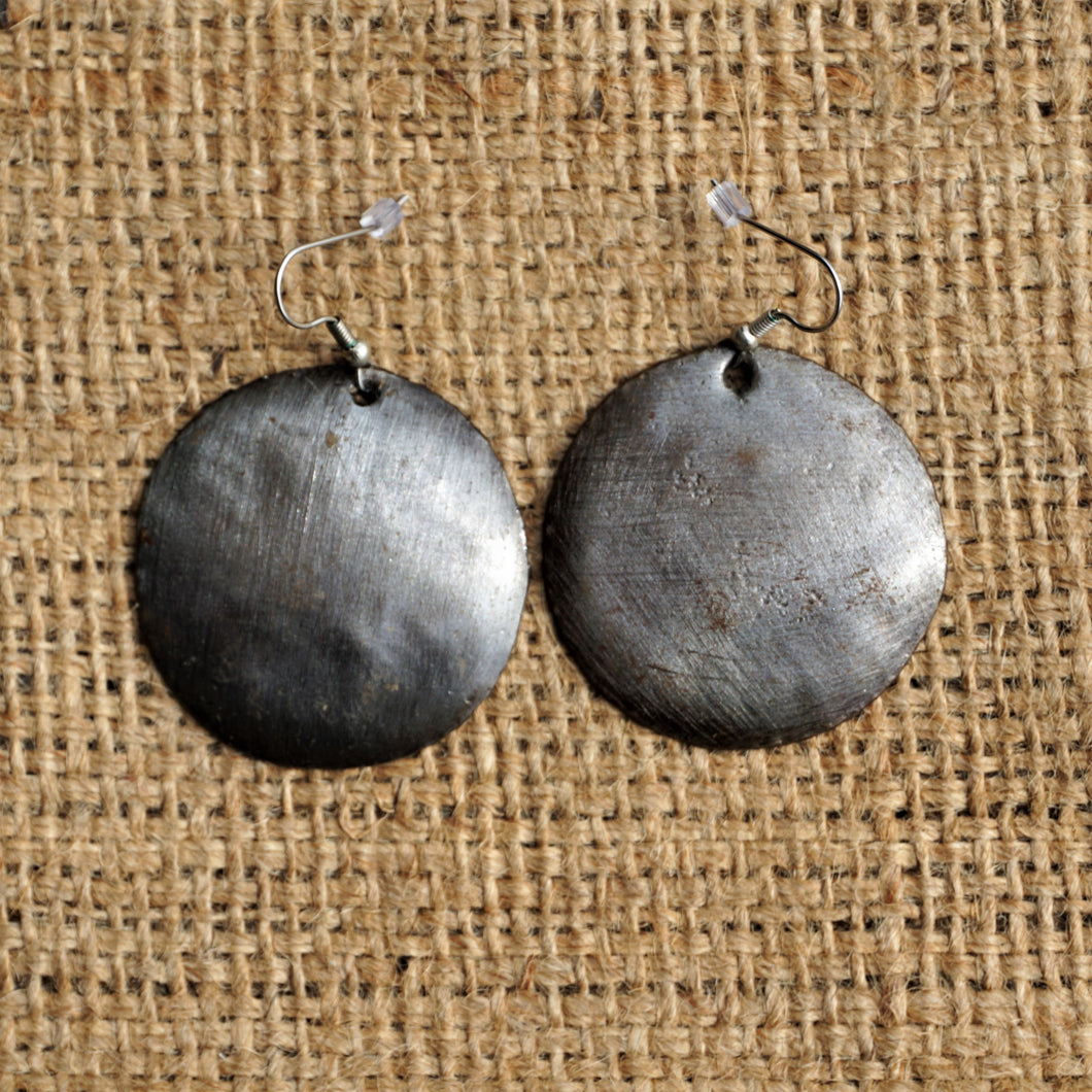 Metal Art Earrings - 1.5