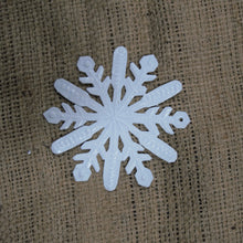 Small White Snowflake Ornament - 4""