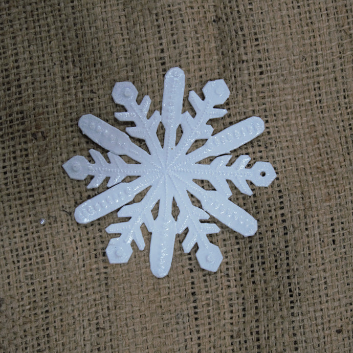 Small White Snowflake Ornament - 4