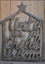 "Unto us a Child is Born (Barn) - 19""x14"""