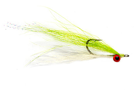 Chartreuse & White Clouser Minnow