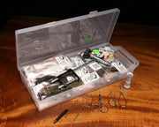 Image of Fly Tying Material Kit with Economy Tools & Vise
