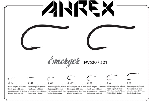 Ahrex FW520 Emerger Barbed Hook