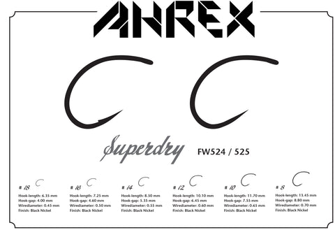 Ahrex FW524 Super Dry Barbed Hook