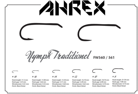 Ahrex FW560 Nymph Traditional Barbed Hook
