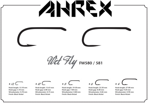 Ahrex FW580 Wet Fly Barbed Hook