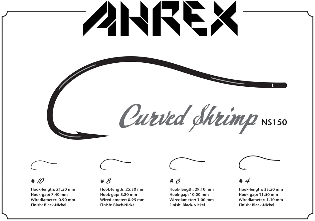Ahrex NS150 Nordic Salt Curved Shrimp Hook