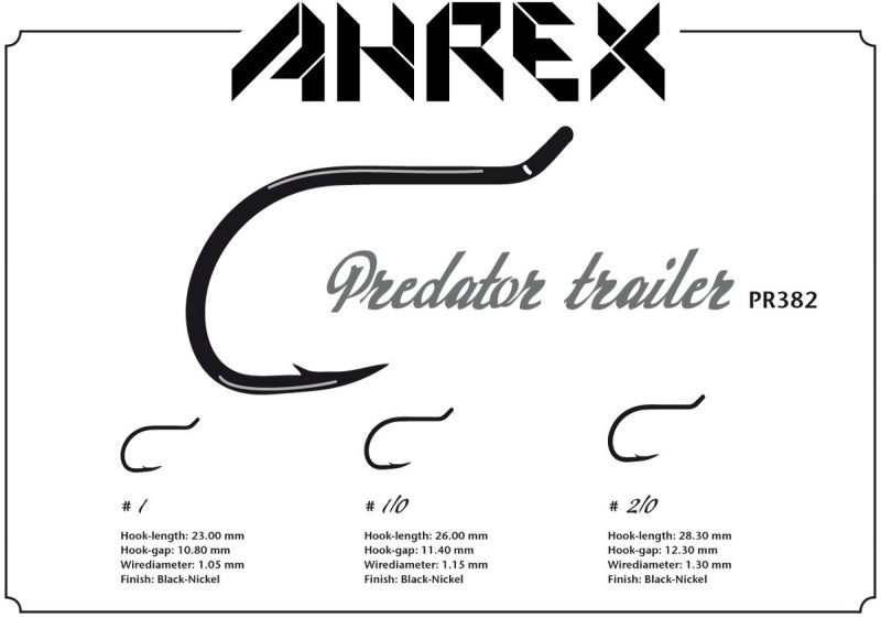 Ahrex PR382 Predator Trailer Barbed Hook