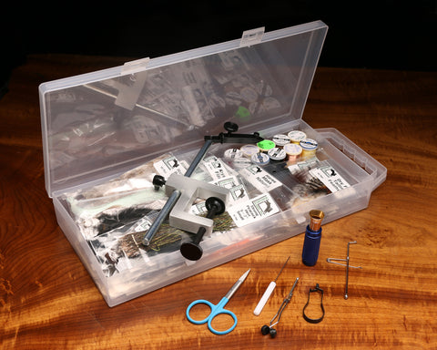 Image of Fly Tying Material Kit With Premium Tools & Vise