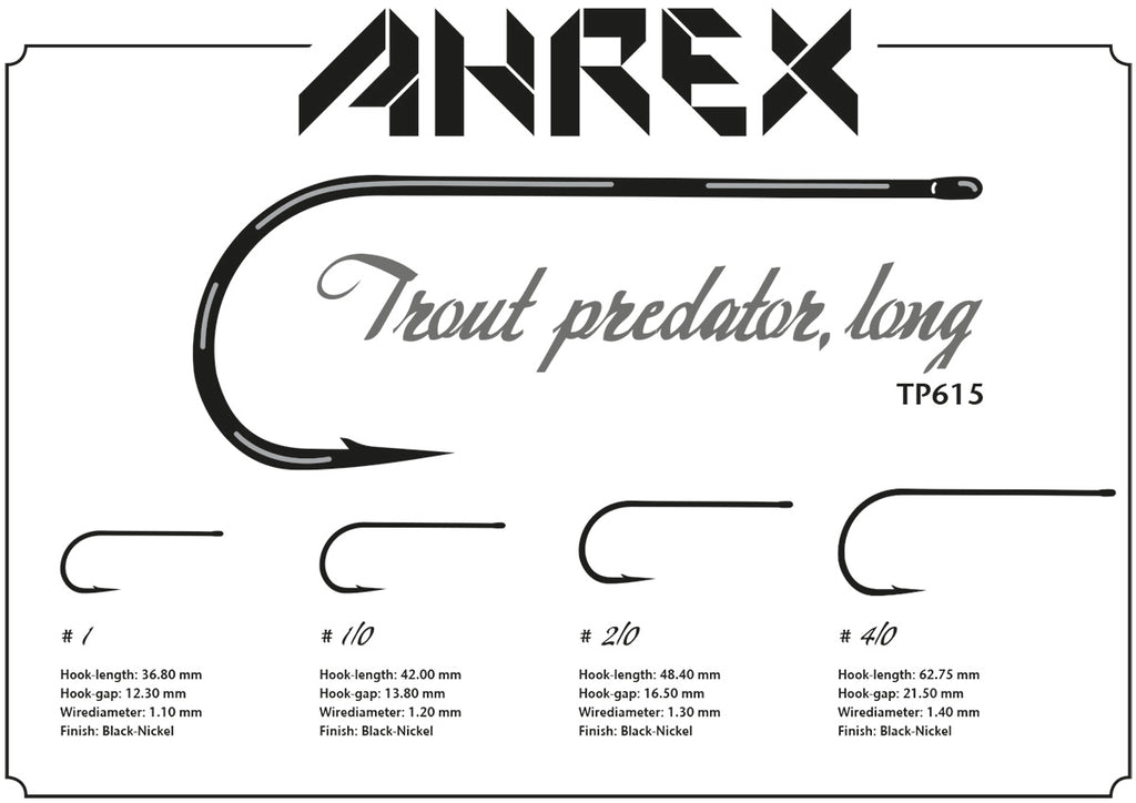Ahrex TP615 Trout Predator Streamer Long Hook