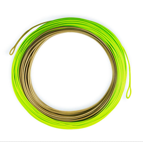 Image of Airflo Superflo Universal Taper Floating Fly Line - Moss Olive / Chartreuse