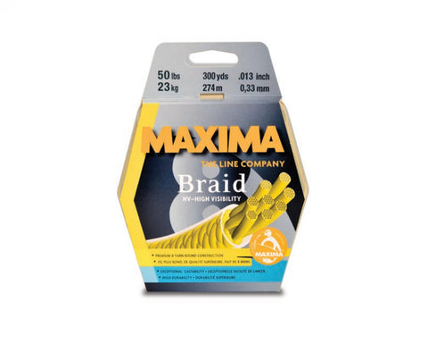 Maxima Braid 8 (HV) High Visibility Fishing Line