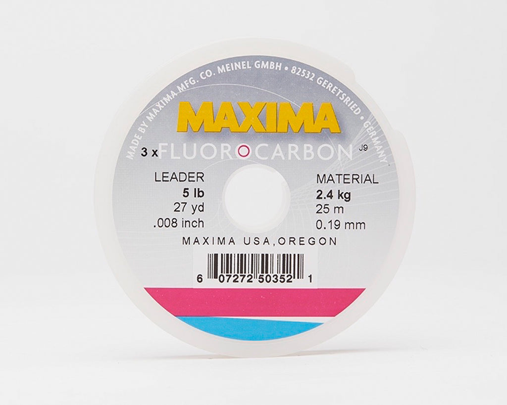 Maxima Fluorocarbon Fishing Line - Leader Wheel