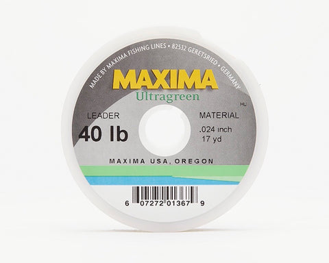 Maxima Ultragreen Fishing Line - Leader Wheel