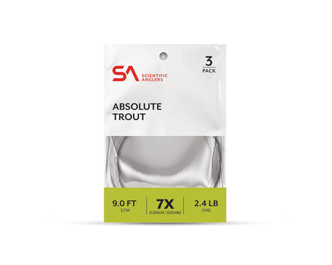 Scientific Anglers Absolute Trout Tapered Leader - 3 Pack