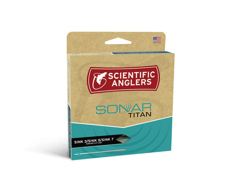 Image of Scientific Anglers Sonar Titan (SINK 3 / SINK 5 / SINK 7) Fly Line - Olive / Charcoal / Black