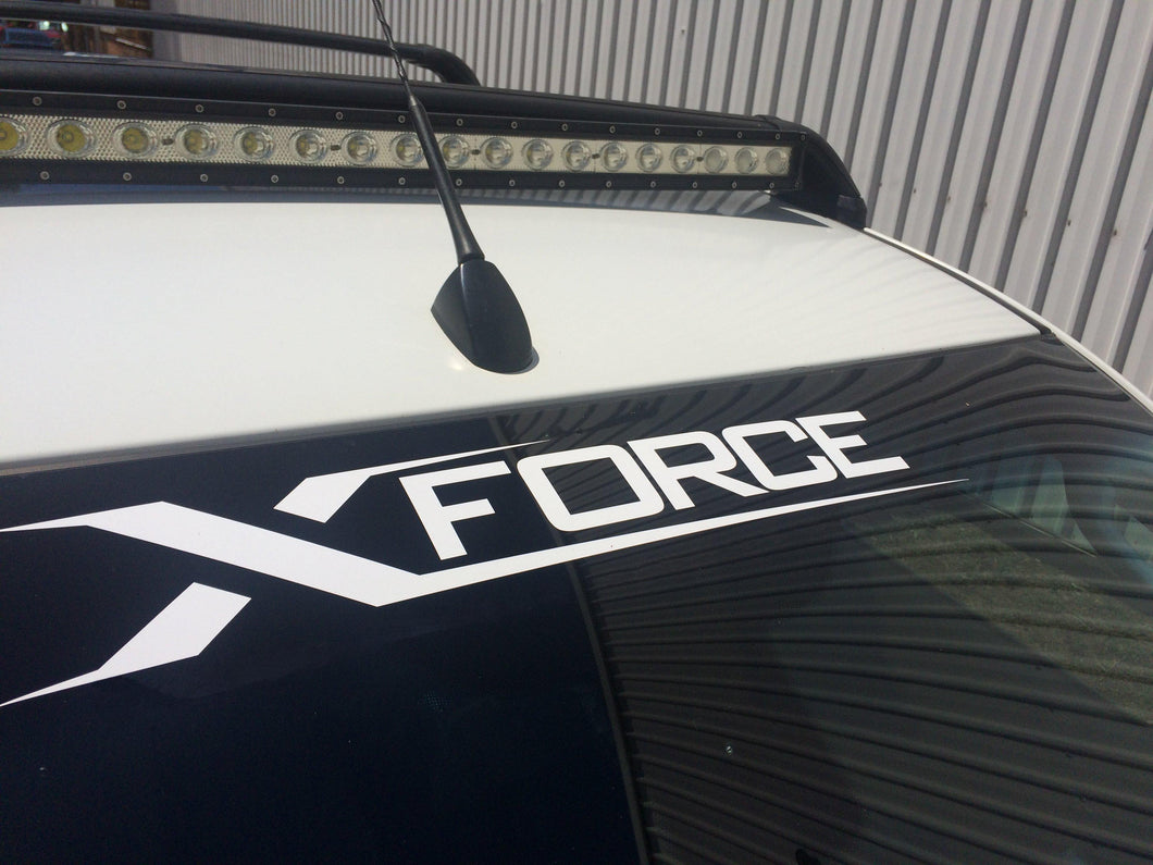 Decal Xforce White mid size