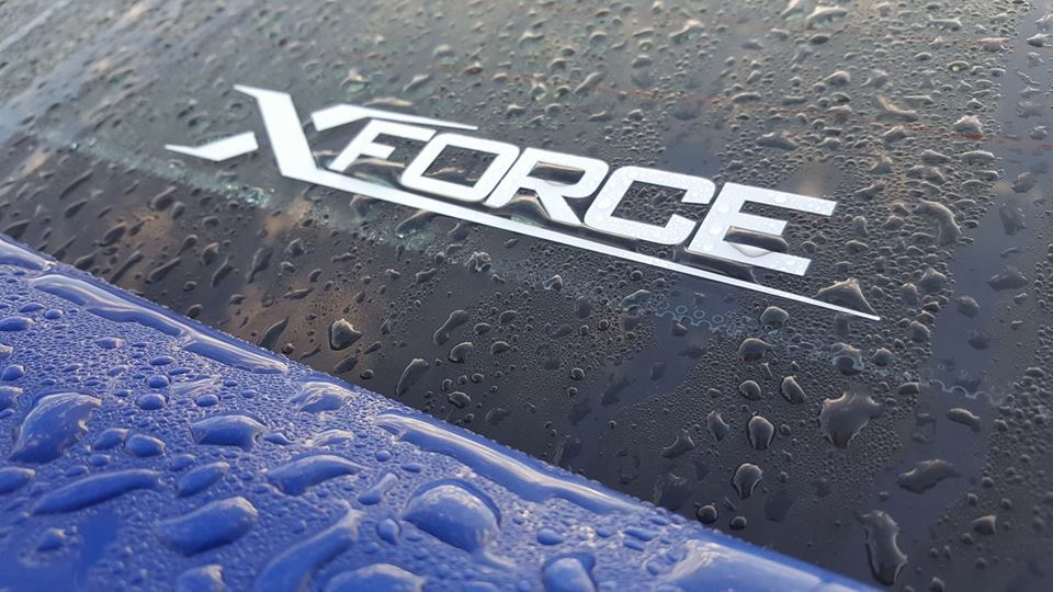 Decal Xforce white small logo
