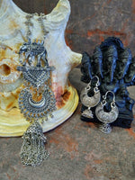 Ethnic Elephant Motif with Jhumki Jewellery Set