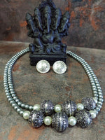 Pearl Double Layer Jewellery Set