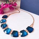 Blue Crystal Choker Necklace