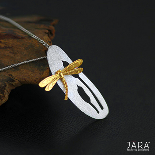 Whispering Dragonfly Pendant Necklace