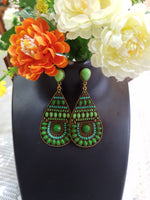 Elegant Green Dangler Earrings