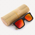 Retro Polarized Wood Sunglass (Red)