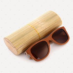 Retro Polarized Wood Sunglass (Tea)