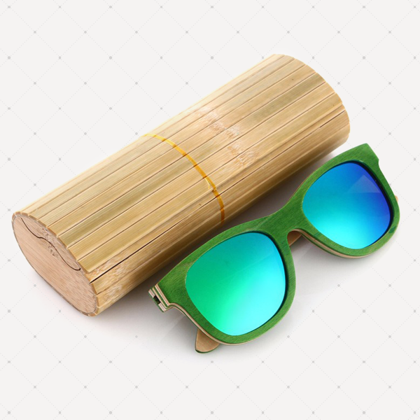 Retro Polarized Wood Sunglass (Green)