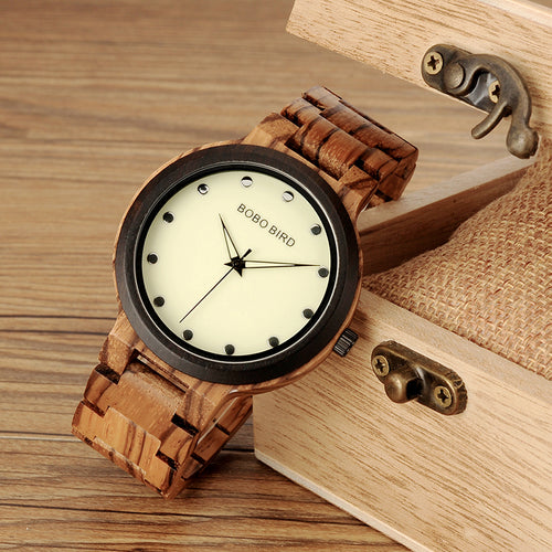 Limited Edition  Dual Tone Back light Wooden Watch