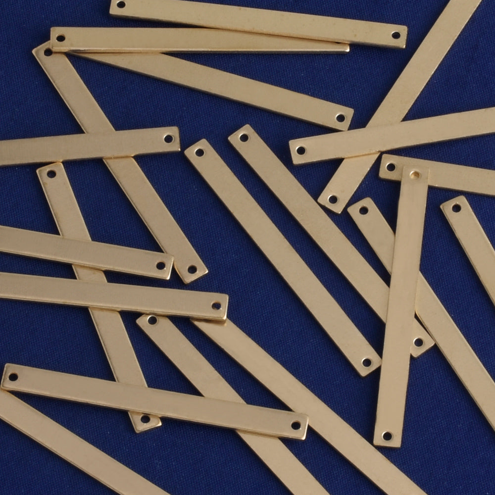 wholesale blank bars rectangle connectors brass stamping blanks