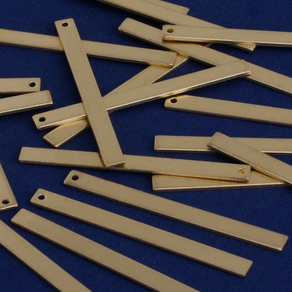 about 13 64 1 31 32 5 50mm dainty brass bars blank bars rectangle