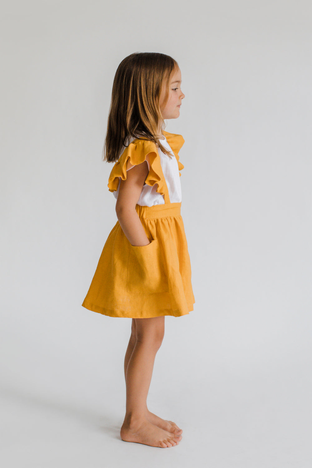Ruffle Skirt Gold