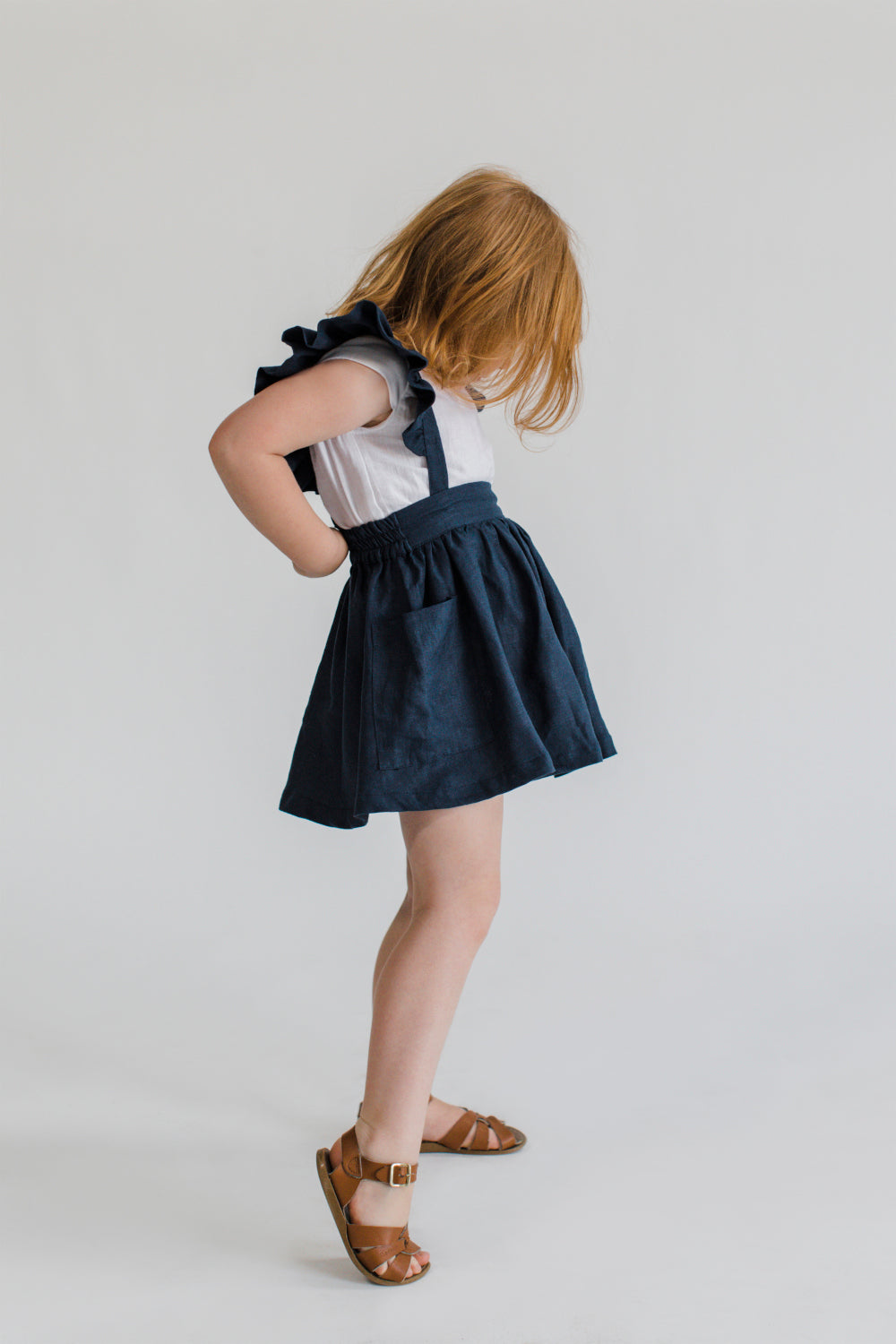 Ruffle Skirt Navy