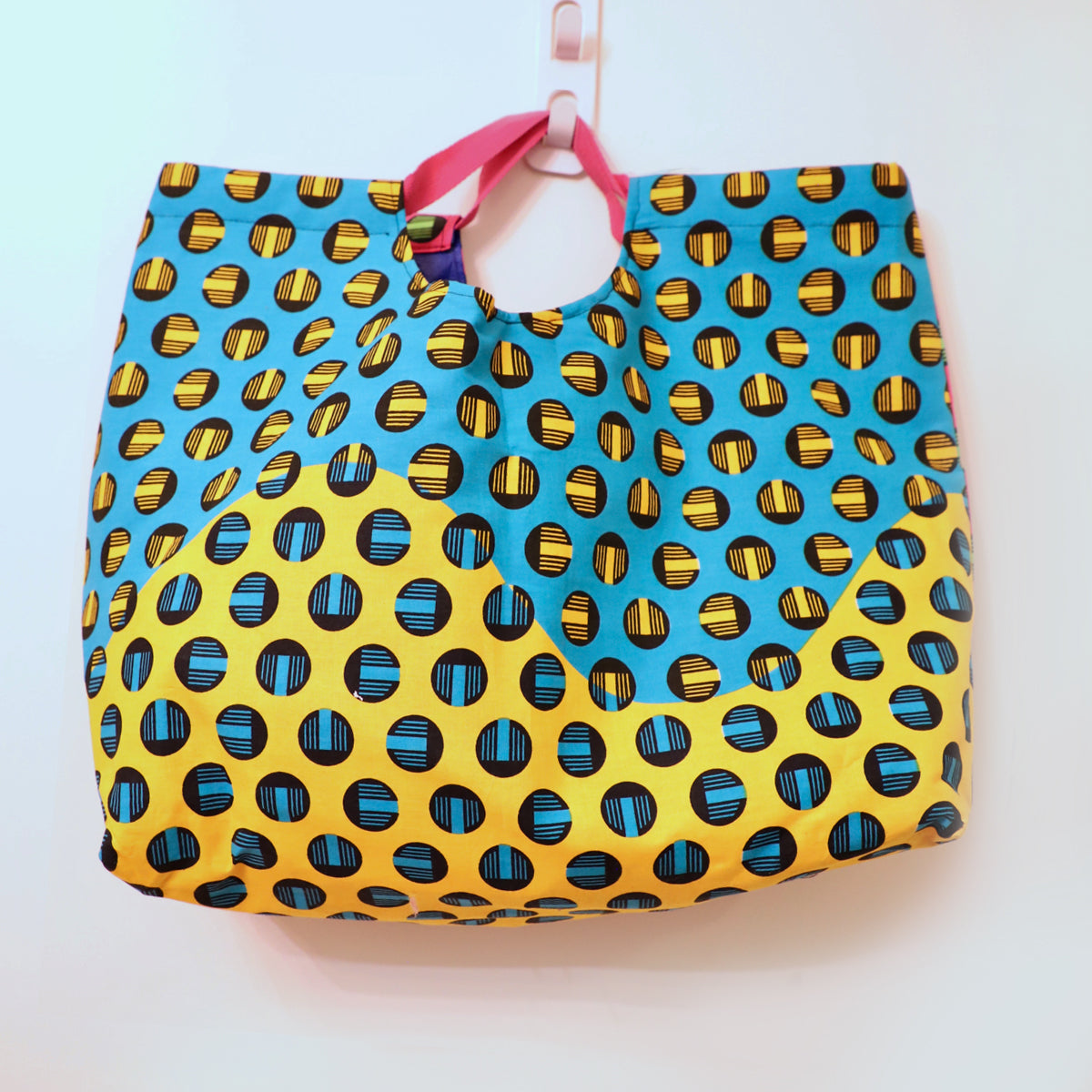 Geometric Dot Oversized Beach Bag